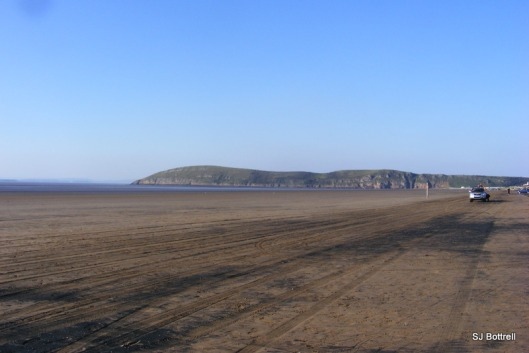 Brean beach with the Down in the far background