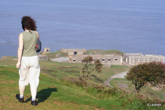 Just glimpsing the site of Brean Down Fort