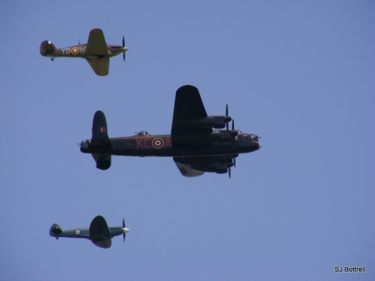 Battle of Britain Memorial Flight - Hurricane, Spitfire an Lancaster.